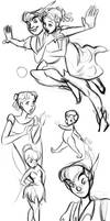Peter Pan doodles