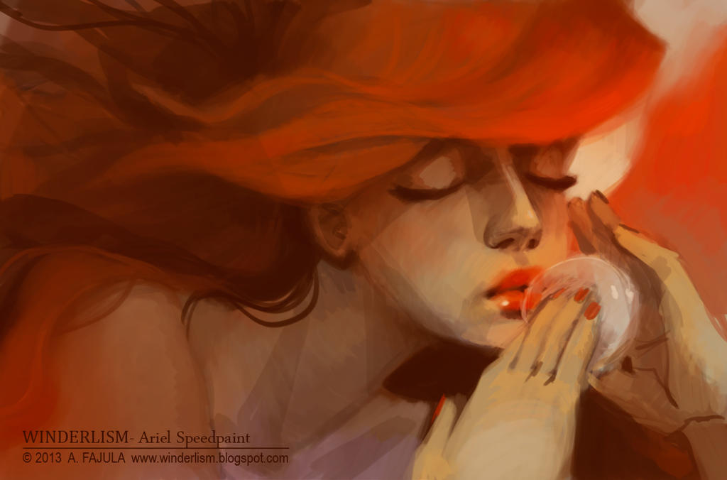 Ariel Speedpaint by winderly