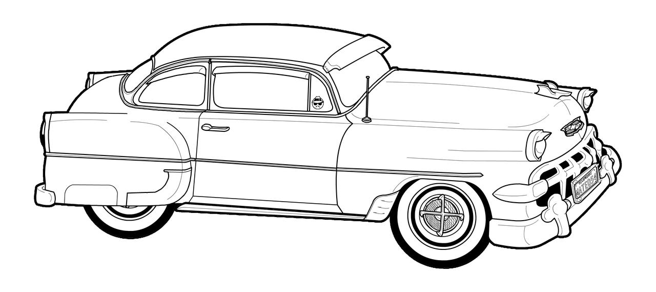 u0026 39 54 chevy lineart by trevm on deviantart