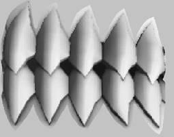 Hollow teeth