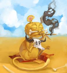 Old old monkey by Gobi-the-dog