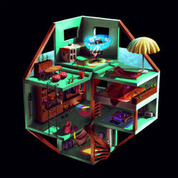 A Gamers Home by Lambii