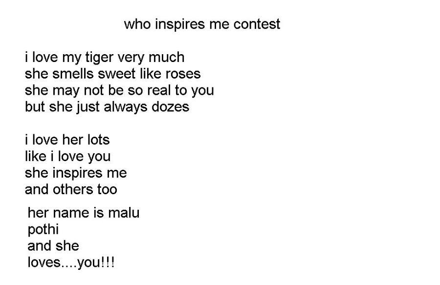 tiger poem by maddietiger101 on DeviantArt