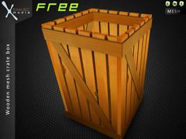 Wooden Crate Box (SL item freebie) by EntecMedia