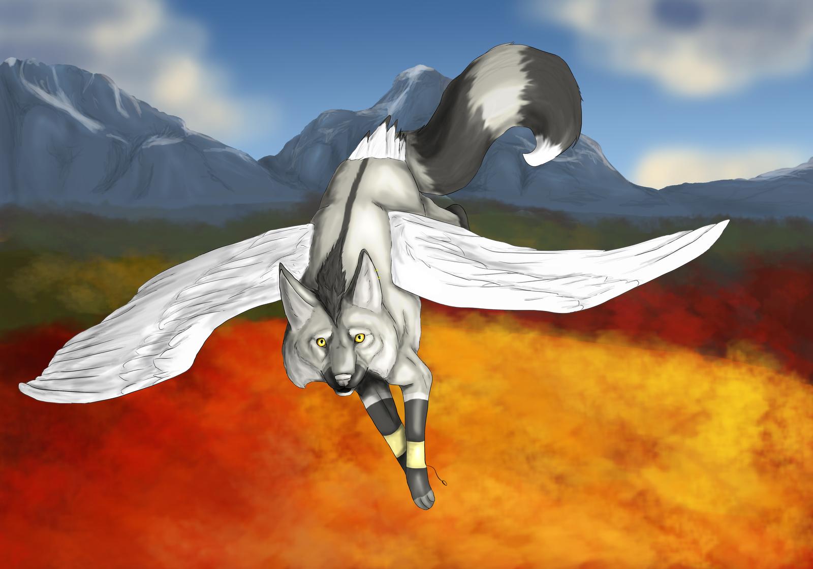Autumn Flight by CaledonCat