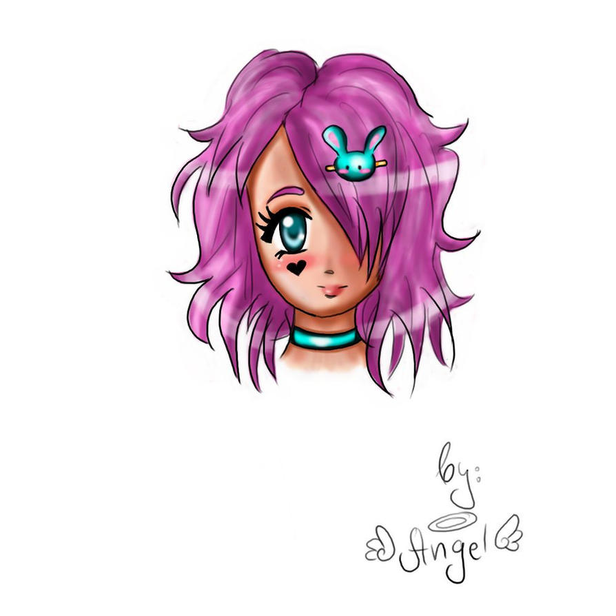 Anime Girl-headshot By Hot-Angel-Kiss On DeviantART
