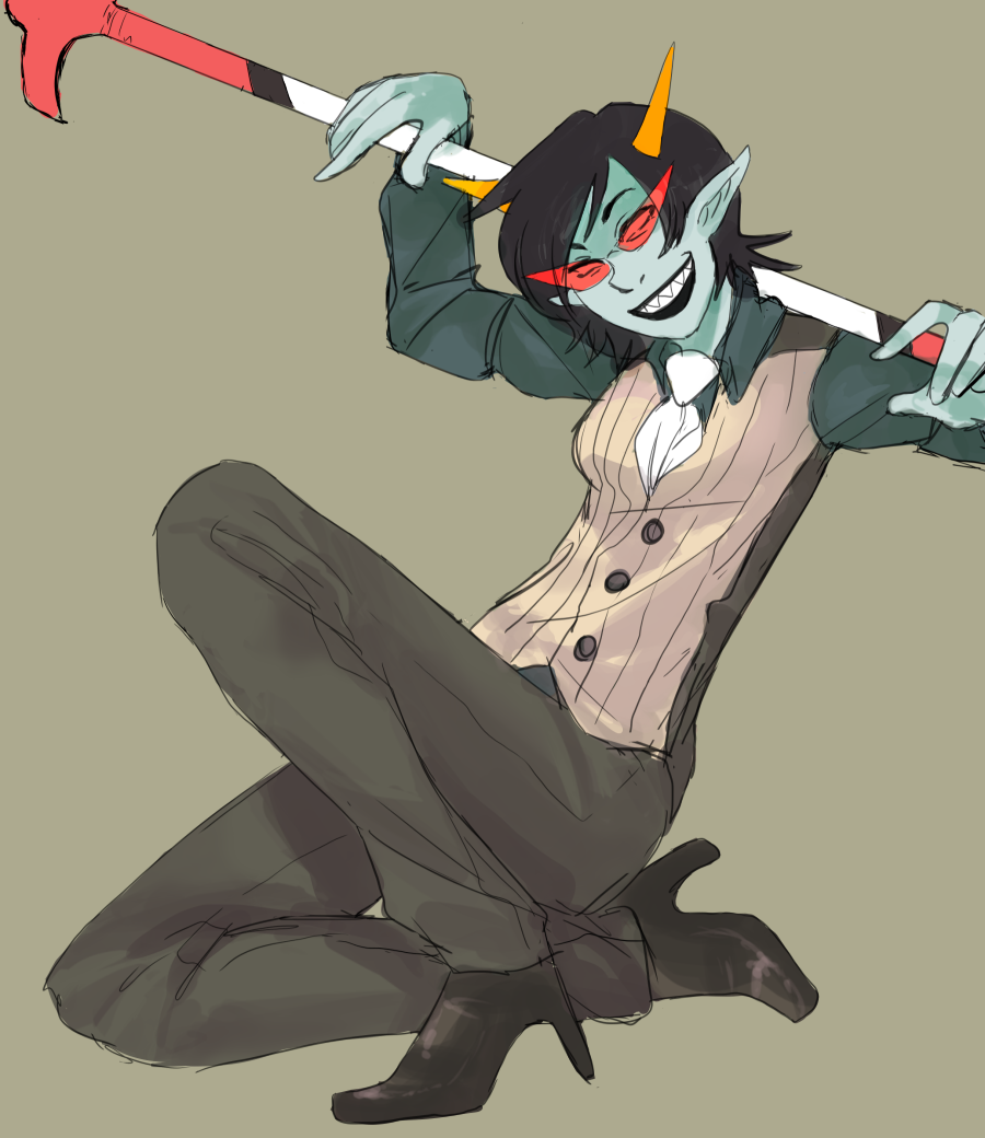 Terezi is cosplaying omg by SXAE