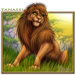 Tanassi the lion by OmegaLioness