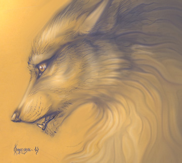 Wolfy by OmegaLioness