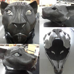 Printed feline mask by OmegaLioness