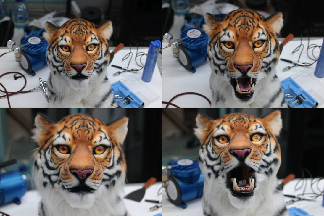 Realistic tiger partial (SOLD) by OmegaLioness