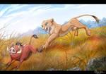 Pumba and Nala playing