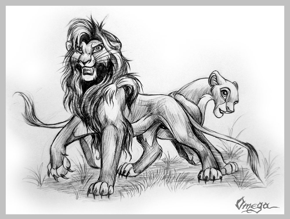 Lion King Kovu And Kiara Drawings Images & Pictures - Becuo