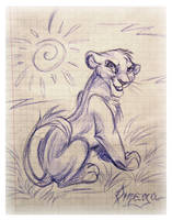 Sketch of Simba by OmegaLioness