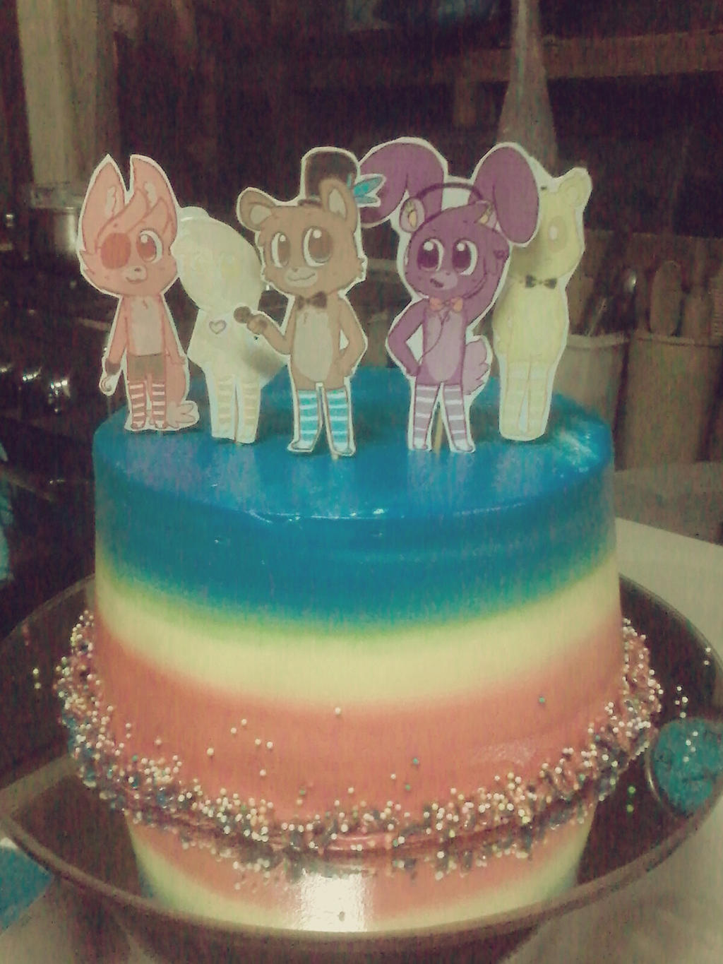 My fnaf birthday cake by cookie and her foxes on deviantart my fnaf birthday cake by cookie and her foxes publicscrutiny Image collections