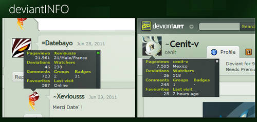 deviantINFO v1.1 by Xeviousss