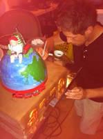 Around the World in 80 Years Cake Design by nemeigh