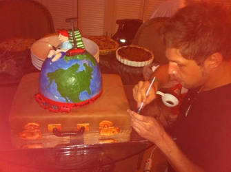 Around the World in 80 Years Cake Design by nemeigh