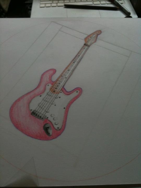 Birthday Cake Guitar Design With Name : Purple Guitar Birthday Cake Design by nemeigh on deviantART