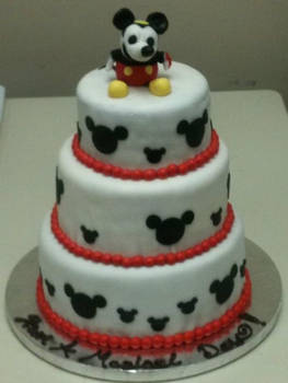 Mickey Mouse Cake for a Bar Mitzvah by nemeigh