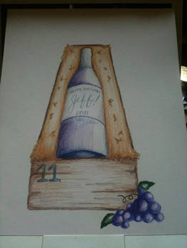 Drawing for Wine Bottle Cake by nemeigh