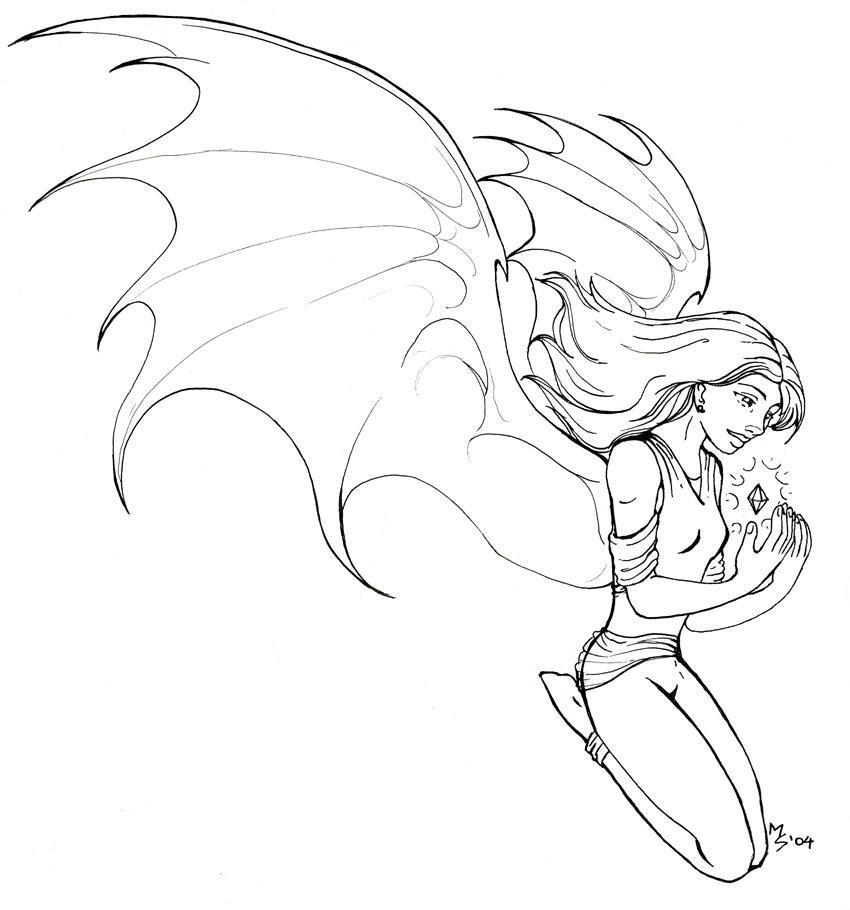 Line Art Wings : Wings line art by spacefille on deviantart