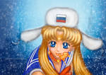 Sailor Moon redraw From Russia with love by ChibifoxArt