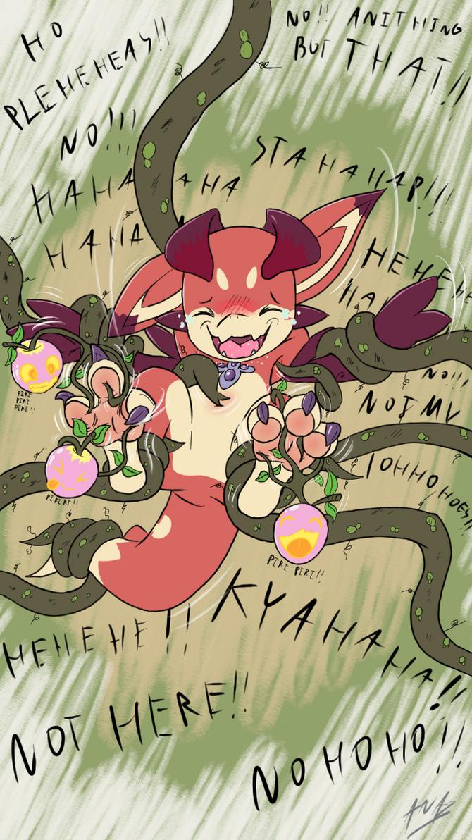 Never disturb playful-apples ! by Anar-Celegorm
