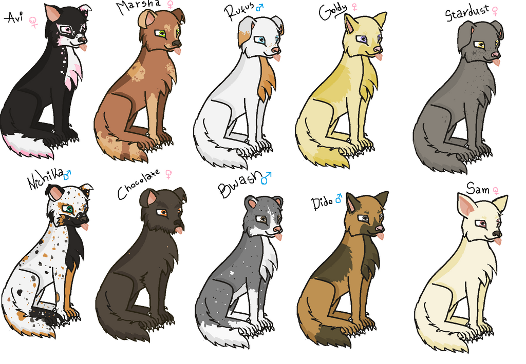 FREE Canine Adoptables --CLOSED-- by Roxie-the-Charizard