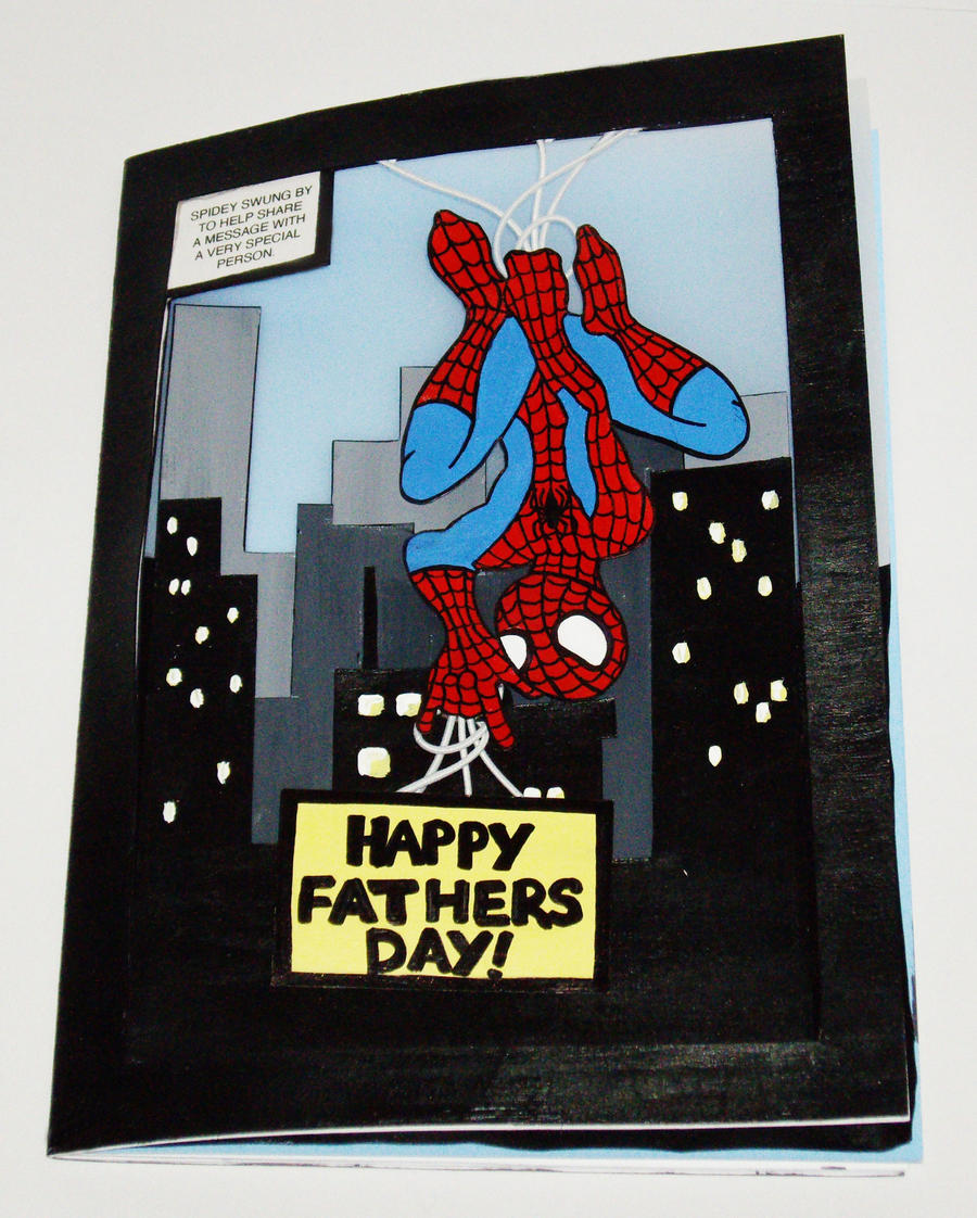 Fathers Day Spiderman Card