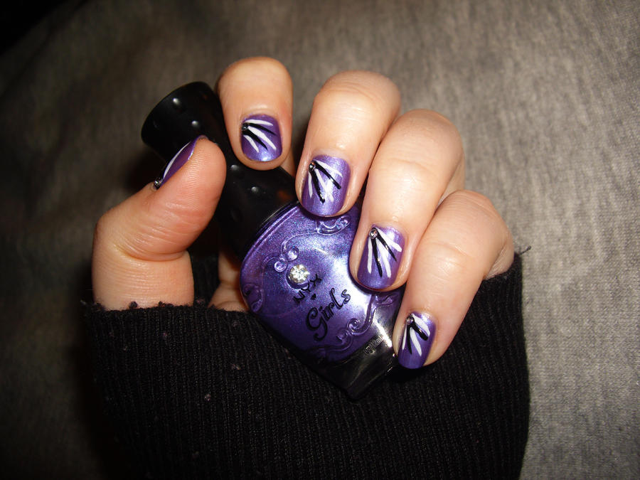 Lilac Nails by Shadowoftheredrose on DeviantArt