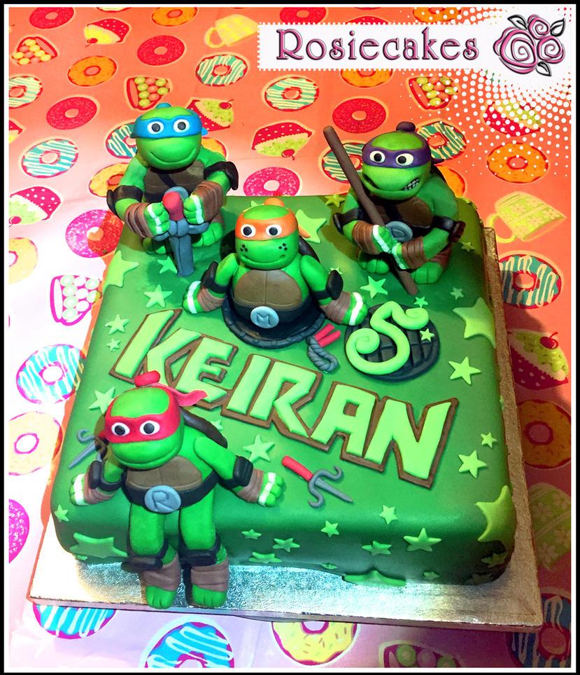 Teenage Mutant Ninja Turtles Birthday Cake By Shadowoftheredrose On