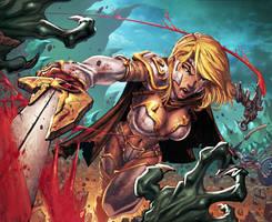 Warcraft Sweeping Strikes Card by Tonywashingtonart