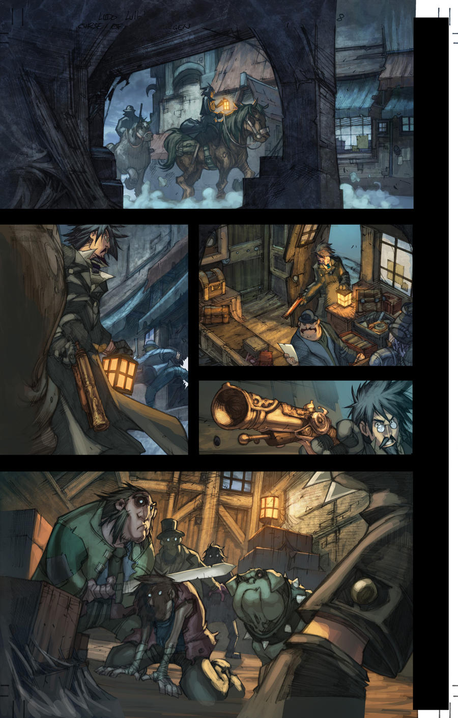 WoW Curse of the Worgen pg 8 by Tonywash