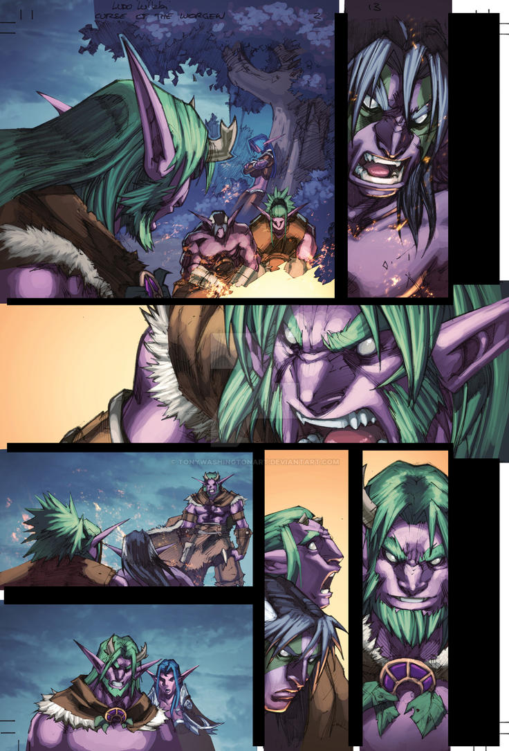 WoW Curse of the Worgen 2 pg13 by Tonywash