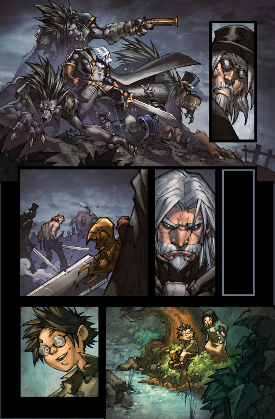 WoW Curse of the Worgen 5 pg08 by Tonywash