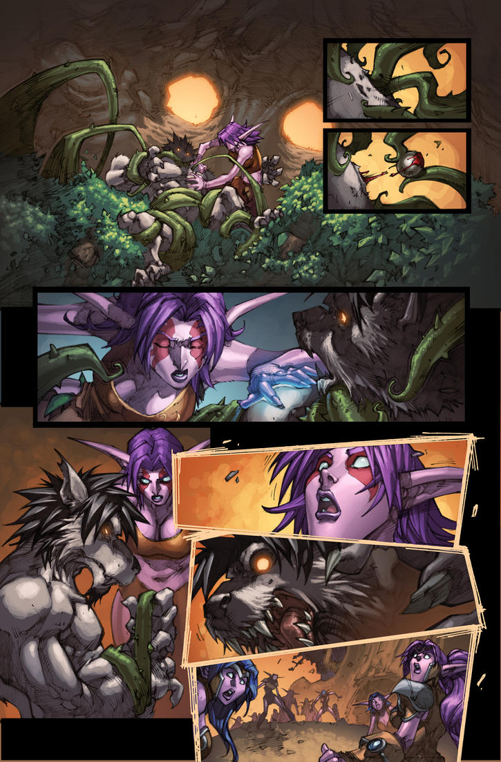 WoW Curse of the Worgen 5 pg02 by Tonywash