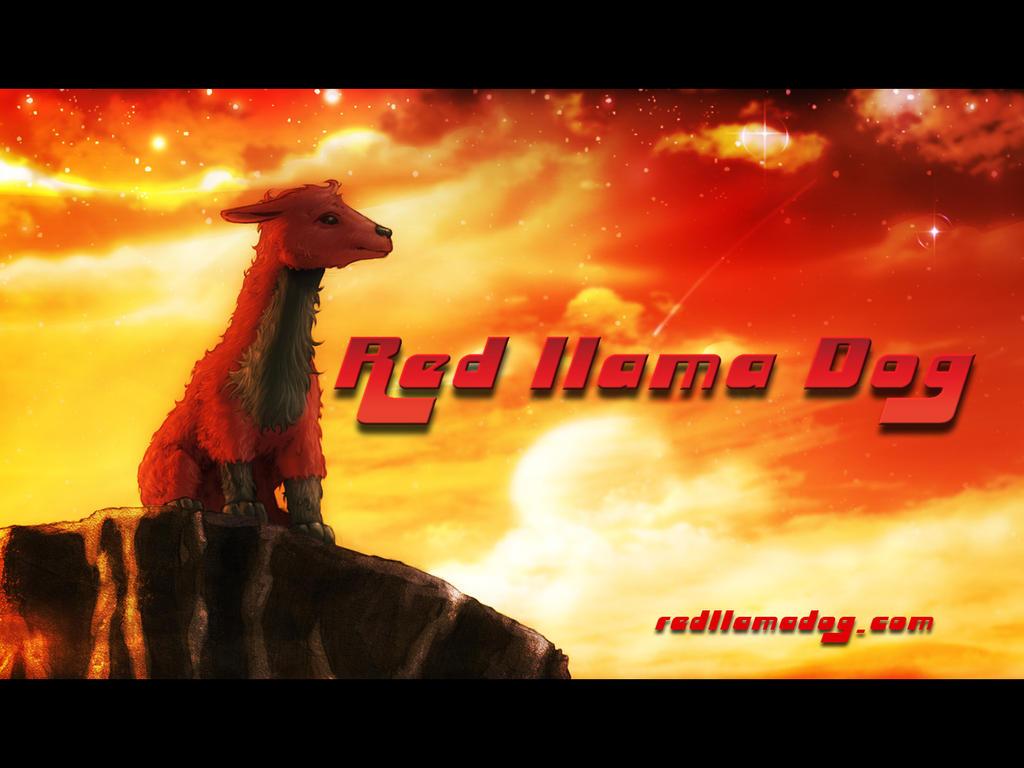 Red Llama Dog Wallpaper 2 by Tonywash