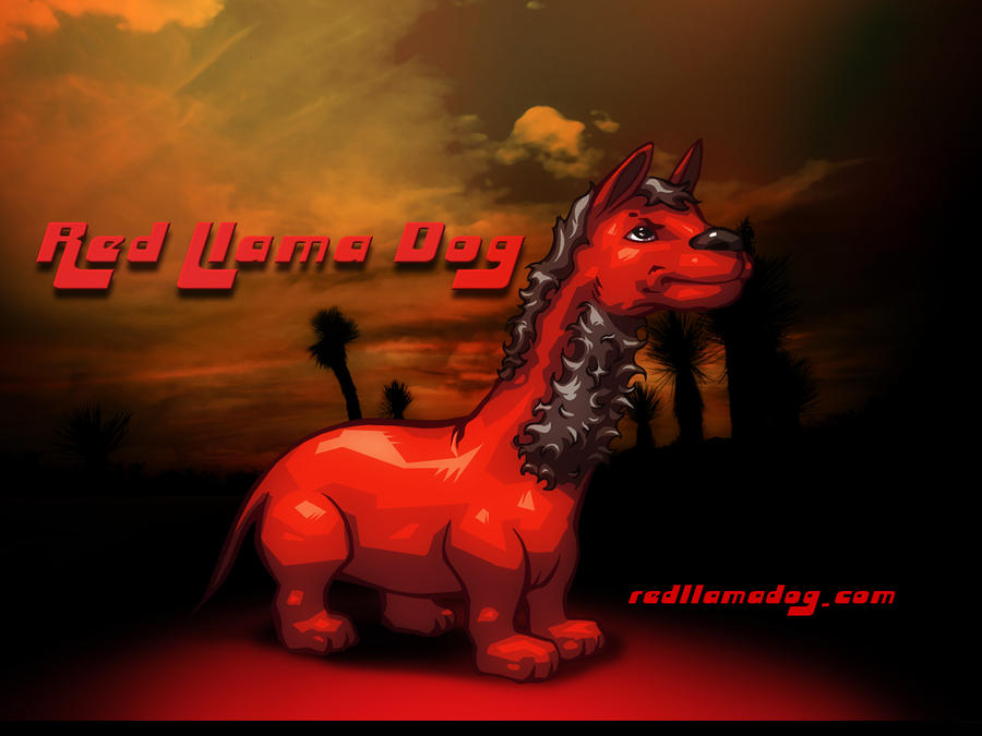 Red Llama Dog Wallpaper 3 by Tonywash
