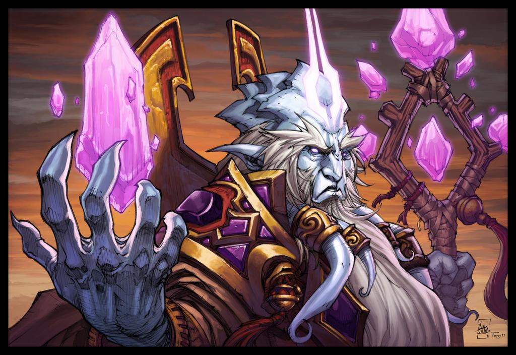 World of Warcraft Velen Pinup by Tonywash