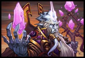 World of Warcraft Velen Pinup by Tonywashingtonart