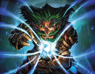 Mage Frost World of Warcraft Card Art by Tonywashingtonart