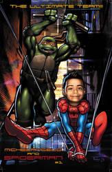Spiderman + Mikey Birthday Pinup For Mason by Tonywashingtonart