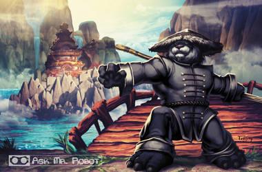 Monk (Ask Mr Robot) Background 5 of 11 by Tonywashingtonart