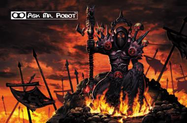 Warlock (Ask Me Robot) Background 10 of 11 by Tonywashingtonart