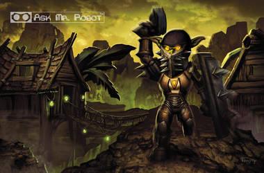 Warrior (Ask Mr Robot) Background 11 of 11 by Tonywashingtonart