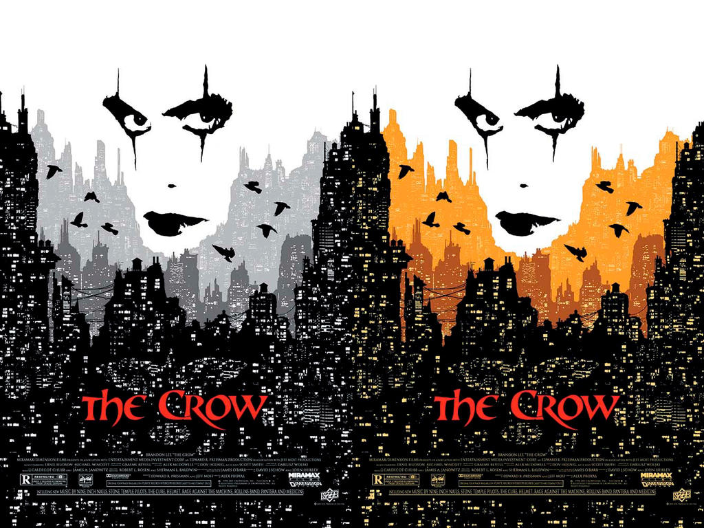 The crow 20th anniversary official movie posters by tonywash on