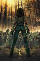 The Walking Dead Colored Version by Tonywashingtonart