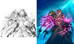 Hearthstone - Cult Sorcerer line art to color by Tonywashingtonart