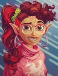 Cora Portrait - Ratchet and Clank CGI paint over by Tonywashingtonart